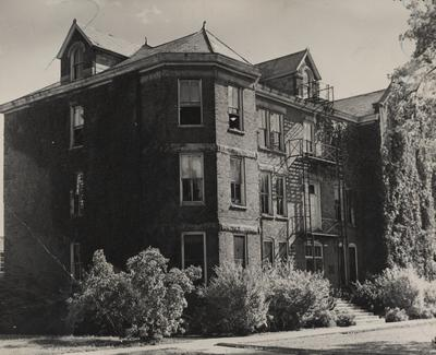 Exterior view of Neville Hall. Received September 19, 1946 from Public Relations
