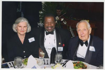 From the left:  Loretta Clark, Everett McCorvey, and Dr. Thomas Clark.  They are at a ceremony for the reopening of the Main Building