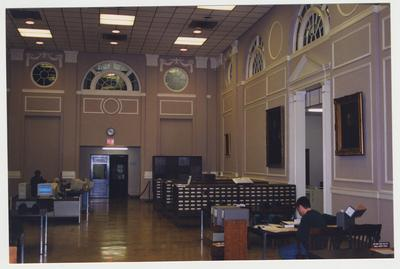 An interior view of the Great Hall in the M. I. King Special Collections' Research Room