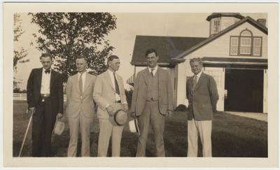 Charles Swift Parrish (second from right) and four other members of the Class of 1907 are at a reunion in 1932