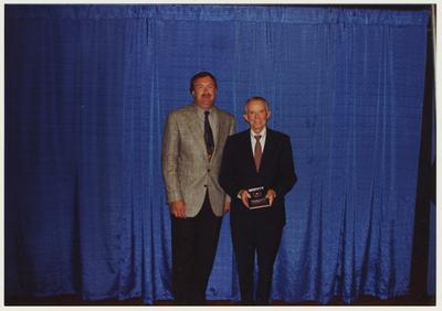 The 1994 Alumni Association Service Awards.  From the left:  Michael A. Burleson and Thomas W. Harris