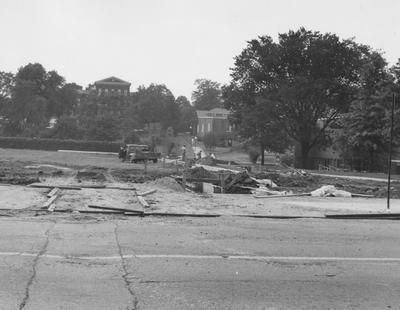 Construction of parking lot. Received August 27, 1963 from Public Relations
