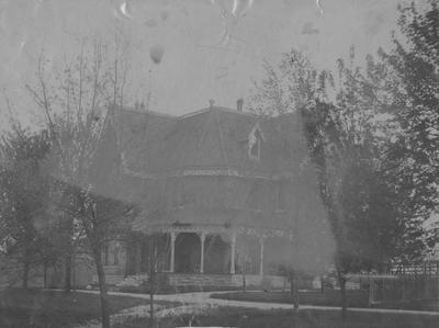 President James K. Patterson's House. This house was destroyed in 1967. This photograph was donated by T. W. Scholtz