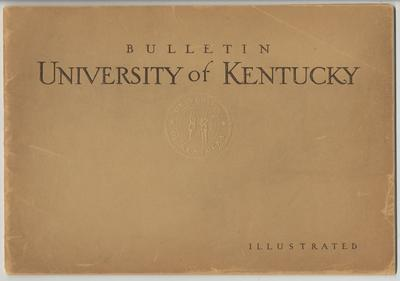 Bulletin University of Kentucky; December 1916, Number 12, Volume VIII