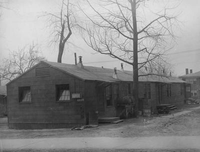Barracks for women, building number three; currently the site of Holmes Hall. Photographer: W. E. Sutherland. Received April 20, 1967 from Public Relations