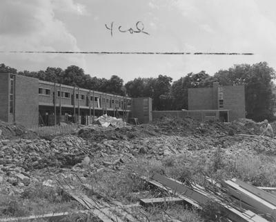 Construction of Shawneetown Apartments. Received June 19, 1957 from Public Relations