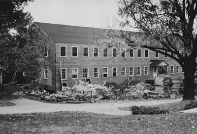 Demolition of Social Sciences Building. Received October 22, 1947 from Public Relations