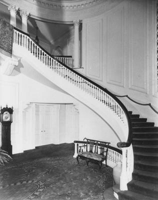 Right half of the front room in Spindletop Hall