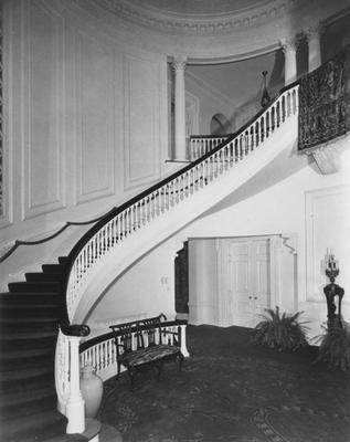 Left half of the front room in Spindletop Hall