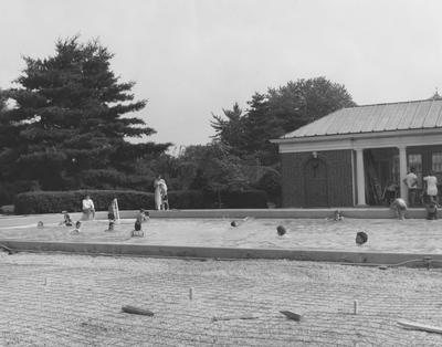 Original family swimming pool at Spindletop Hall