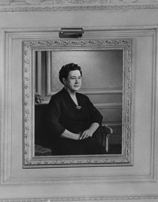 Portrait of Pansy Yount, hanging in Spindletop Hall. Lexington Herald-Leader Photo