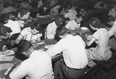 The first African Americans who were admitted to UK registered for graduate and professional classes