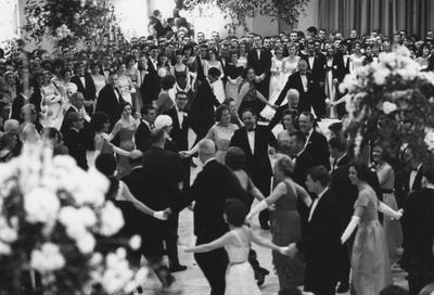 UK celebrated its centennial with a formal dance in the Grand Ballroom