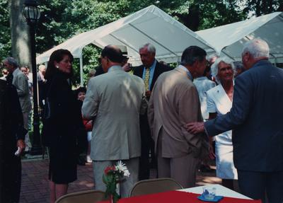 Celebration: July 11, 2002; Actual Birthday: July 16, 2002. Crowd, and the white headed man in the back is Terry Mobley