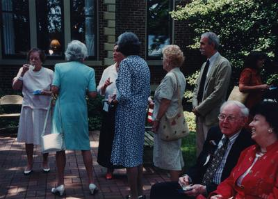 Celebration: July 11, 2002; Actual Birthday: July 16, 2002. Tallest woman is Helen Breckinridge and first from left is Francis Lamason