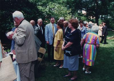 Celebration: July 11, 2002; Actual Birthday: July 16, 2002. In the center is Foster Ockerman (wearing a blue jacket) and Reverend Harold Dorsey is to his left (retired Methodist Minister)