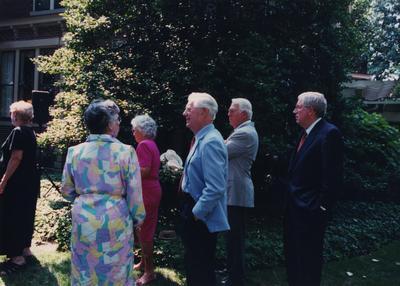 Celebration: July 11, 2002; Actual Birthday: July 16, 2002. Glenna Graves (Mrs. Jake Graves, III)  and Charles Shearer, President of Transylvania