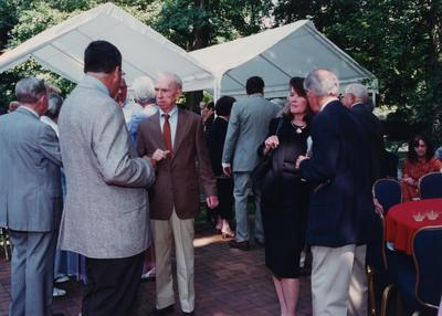 Celebration: July 11, 2002; Actual Birthday: July 16, 2002.  Man in brown jacket is Hillary Boone