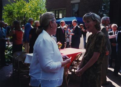 Celebration: July 11, 2002; Actual Birthday: July 16, 2002. Left to right: Patsy Todd and unidentified woman