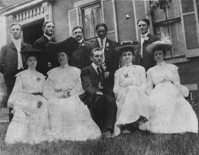 1901 Class Reunion- June 1904; six men and four women