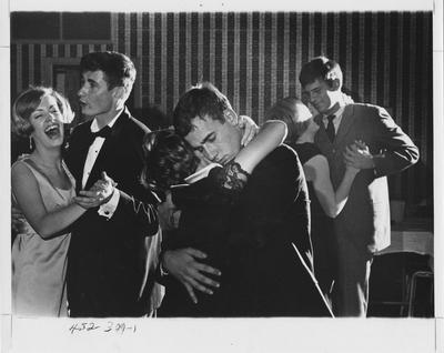 Couples dancing at a fraternity party. This photo appears first on page 309 in the 1969 Kentuckian