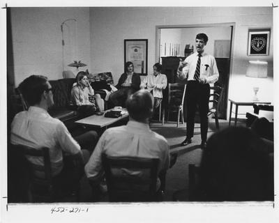 Sigma Phi Epsilon, speaker series. This photo appears first on page 271 in the 1969 Kentuckian