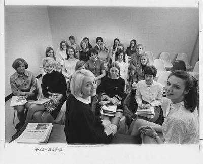 Associated Women Students, twenty-two women in photo