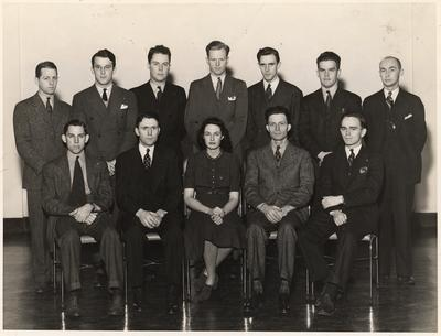 Beta Gamma Sigma- Commerce honorary Fraternity. This image appears on page 131 in the 1941 Kentuckian. Photographer: Lafayette Studio
