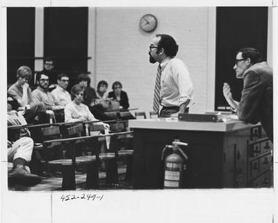 Graduate Student Association meeting. This image appears first on page 249 in the 1969 Kentuckian