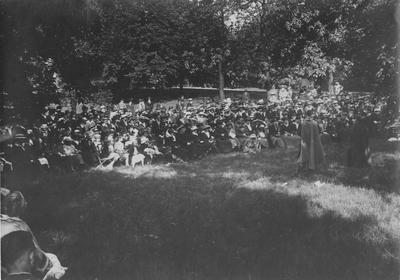 Audience watching Shakespearean Festival in May 1930s; Accessioned from Administration Building 1966 January 3