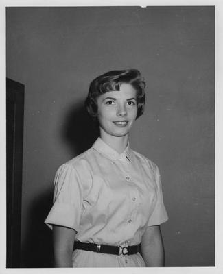An unidentified female student, possibly an ambassador to visiting speakers