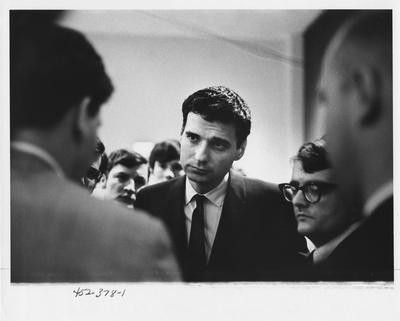 Ralph Nader visits the University of Kentucky campus; This image is in the 1969 Kentuckian on page 378, image 1
