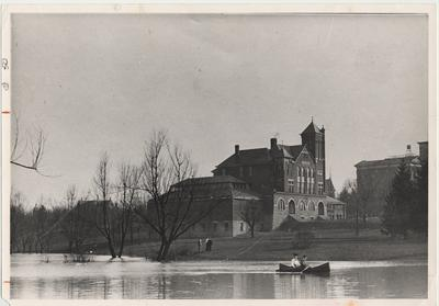 Boating on the lake beside Barker Hall was popular in the early part of the century