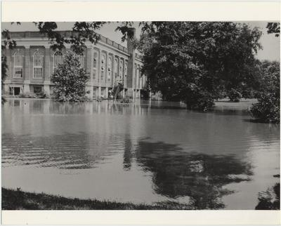Completed in 1924, Alumni Gym was flooded twice in 1928, damaging the post office and bookstore, which were located in the basement