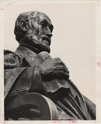 Augustus Lukeman's statue of James K. Patterson is dedicated; It remained at its original site near the Administration Building and the Carnegie Library for thirty - four years until it was moved to its present location, west of the Patterson Office Tower
