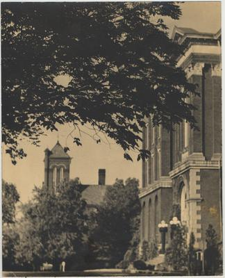 A picture of the Administration Building; Photographer: W. Brooks Hamilton, the Associate Professor of Hygiene and Public Health at the University of Kentucky