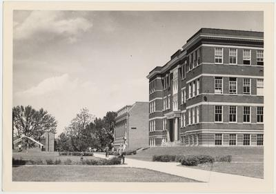 From left to right: Lafferty Hall, Margaret I. King Library, and Pence Hall