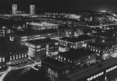 University of Kentucky campus at night