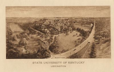 Aerial view of the State University of Kentucky campus