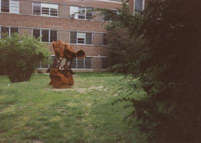 Sculpture beside the Fine Arts Building; Photographer: Terry Warth