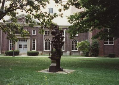 Sculpture in front of the Wendt Machine Shop and Engineering building; Destroyed circa 1999/2000, Wendt Machine Shop