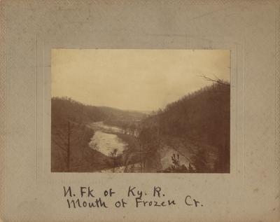North fork of Kentucky River at the mouth of Frozen Creek