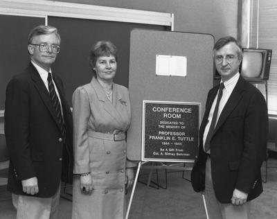 Dedication of the Franklin E. Tuttle conference room