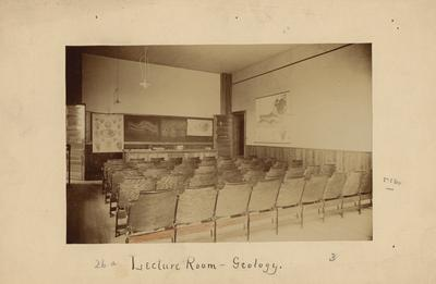 A lecture room for Geology students