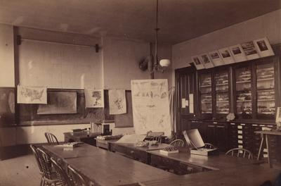 A geology classroom