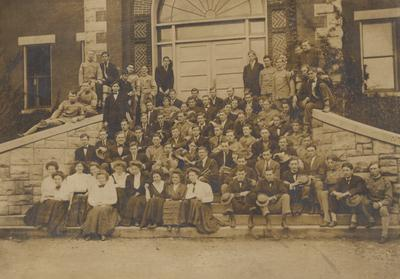 Academy students; Some of the same individuals seem to be in the Sophomore class picture in the 1908 Kentuckian