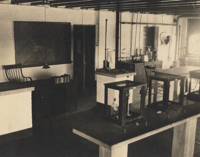 Guy Smith's laboratory at the University of Kentucky; Smith was an instructor in the Mathematics department; From the Guy Smith collection, 1990UA026, received in the Spring of 1990