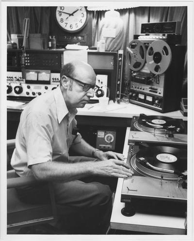 Reynolds Large joined the radio staff of WBKY FM (now WUKY) in 1971 and began his popular show,
