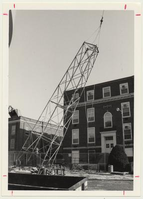 The old radio tower toppled on 1992, February 13 at Communi - K; Photographer: Ken Goad