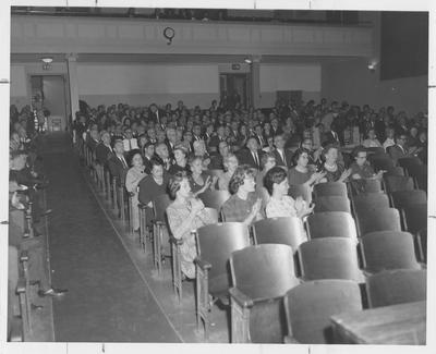 Education Conference at Memorial Hall showing audience of attendees
